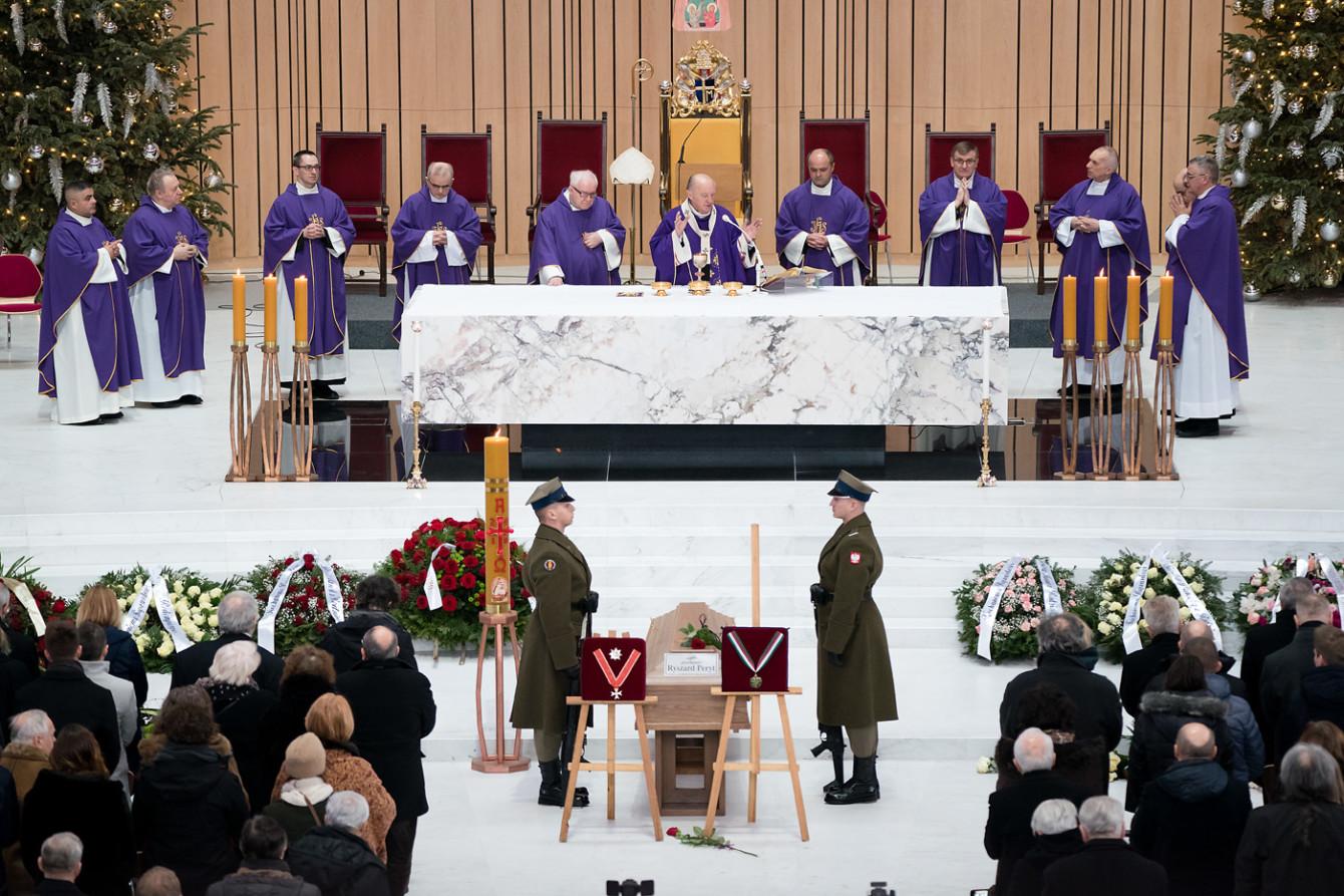 Pogrzeb śp. Ryszarda Peryta, 26.01.2019. Fot. Maciej Czerski